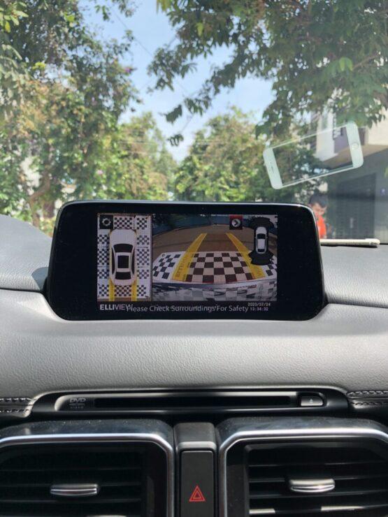 Hiện cảm biến lùi camera 360 xe Mazda CX5