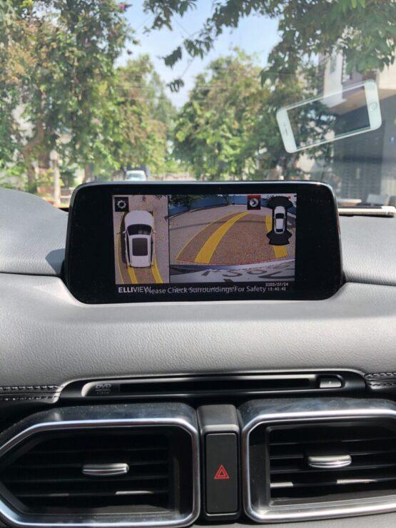 Hiển thị đánh lái vô lăng camera 360 xe Mazda CX5