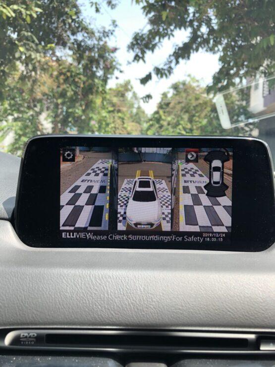 Hiển thị dừng khẩn cấp camera 360 xe Mazda CX5