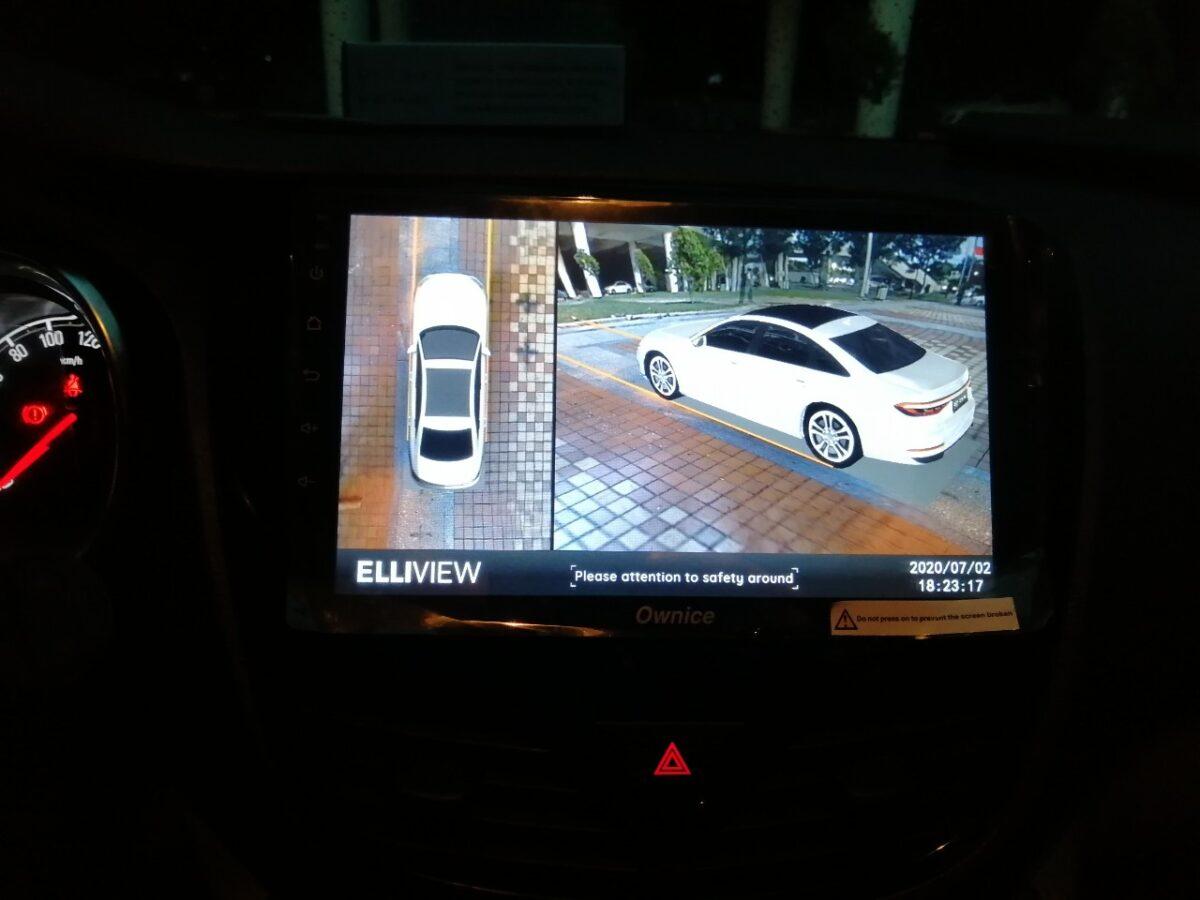 Xe Vinfast Fadil lắp camera 360 Elliview với màn hình zin
