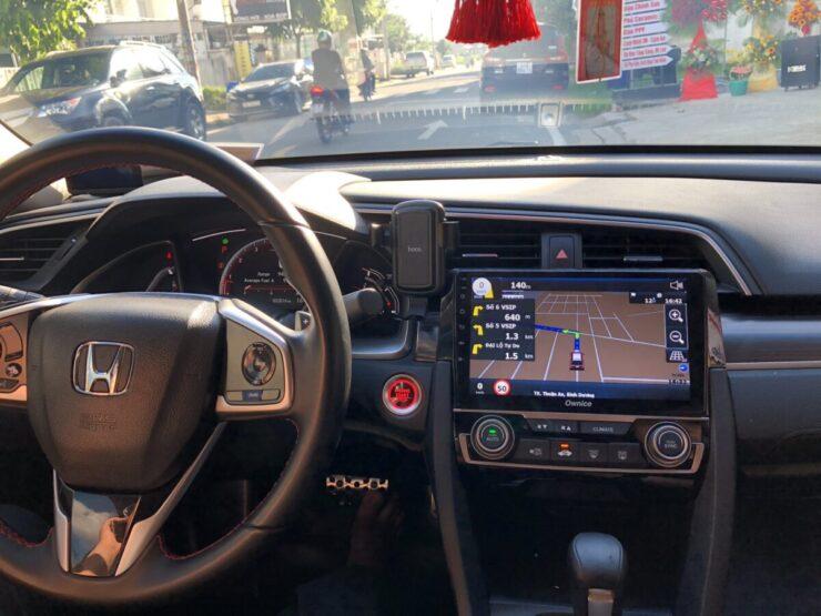 Trải nghiệm Camera hành trình 360 độ trên xe Honda Civic