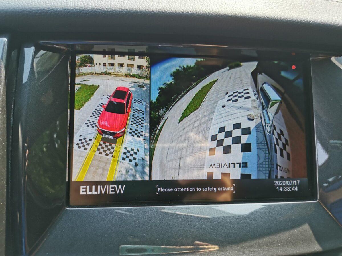 Camera 360 xe Ford Everest hiển thị đánh lái tiến và xi nhan trái