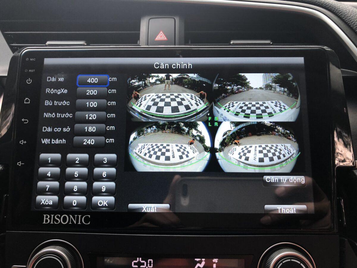 Căn chỉnh bạt Camera 360 Honda Civic