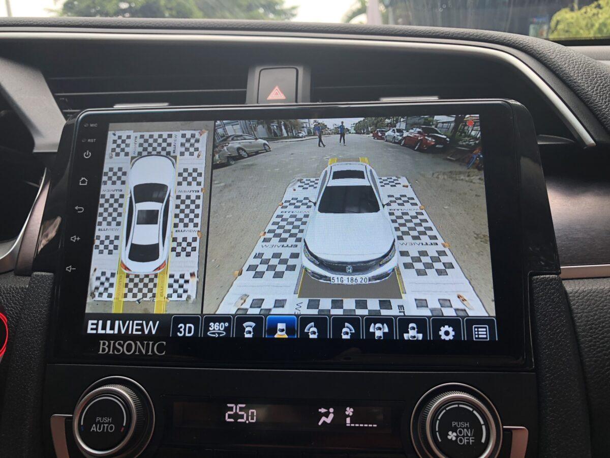 Hiển thị lùi xe camera 360 Honda Civic