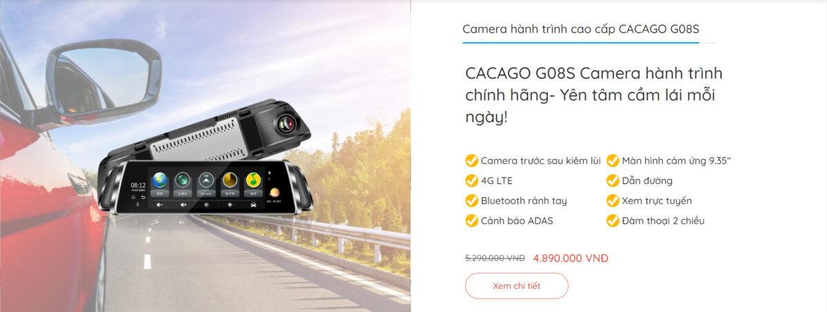 Camera hành trình cao cấp CACAGO G08S