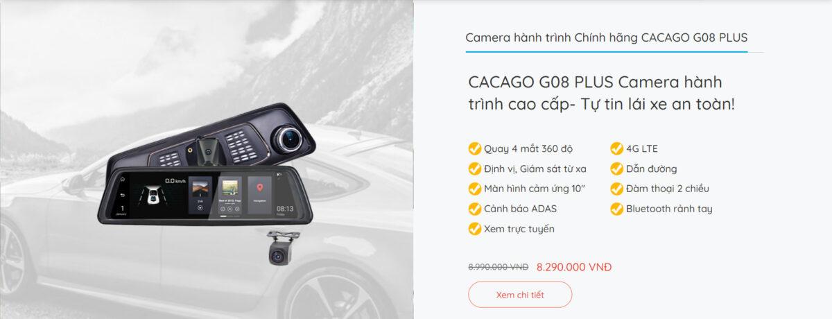 Camera hành trình cao cấp CACAGO G08 Plus