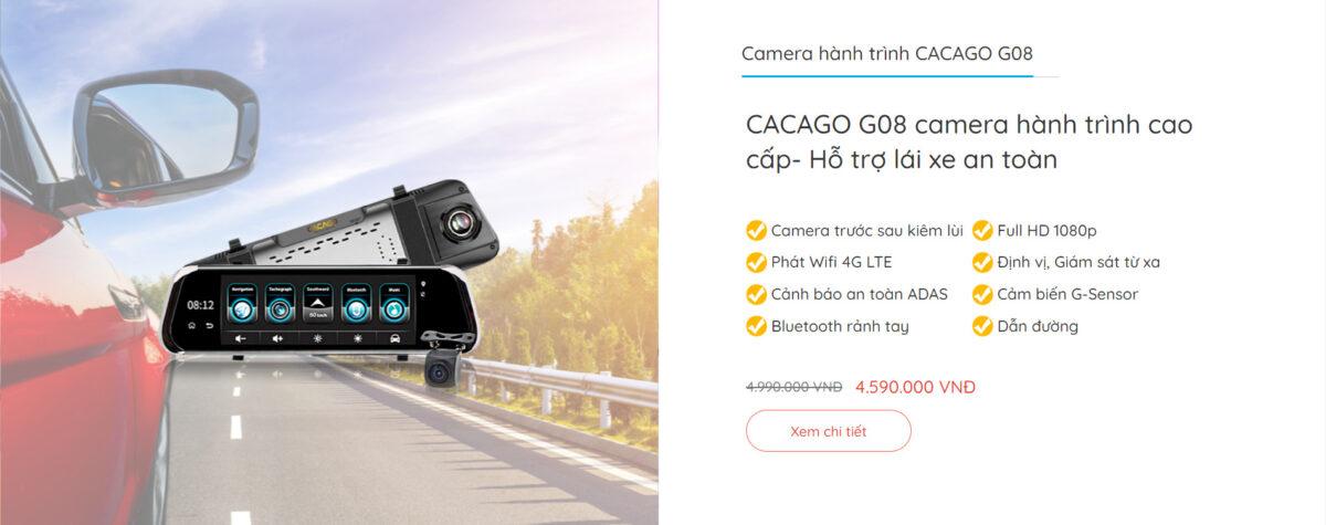 Camera hành trình CACAGO G08