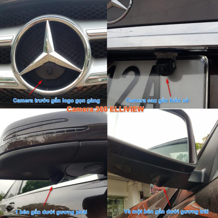 Vị trí lắp camera 360 trên xe ô tô
