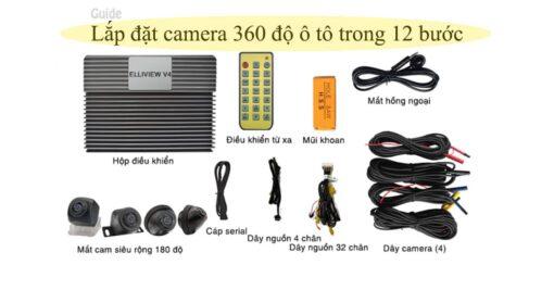 Hướng dẫn lắp đặt camera 360 độ ô tô trong 12 bước tiêu chuẩn