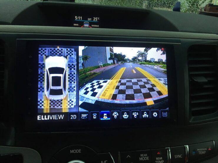 Camera 360 độ ô tô Elliview phù hợp với xe Toyota Sienna