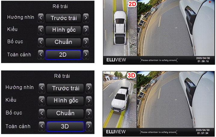 Camera 360 độ ô tô 3D