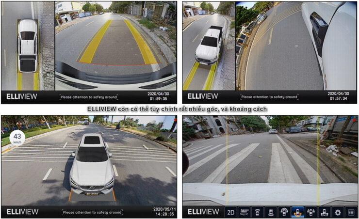 Camera 360 độ ô tô có nhiều góc nhìn nhất