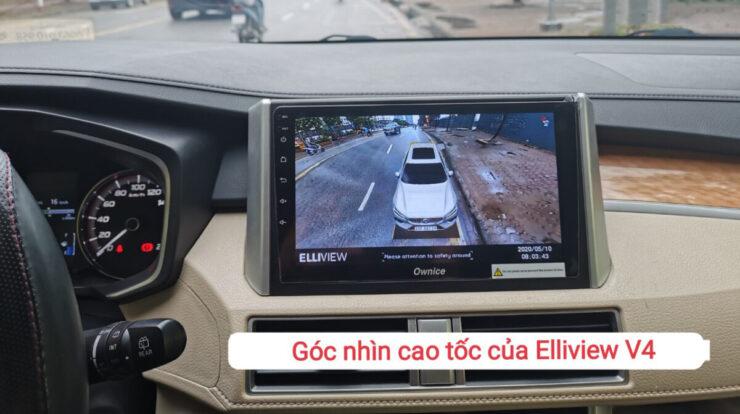 góc nhìn cao tốc của camera 360 Elliview V4