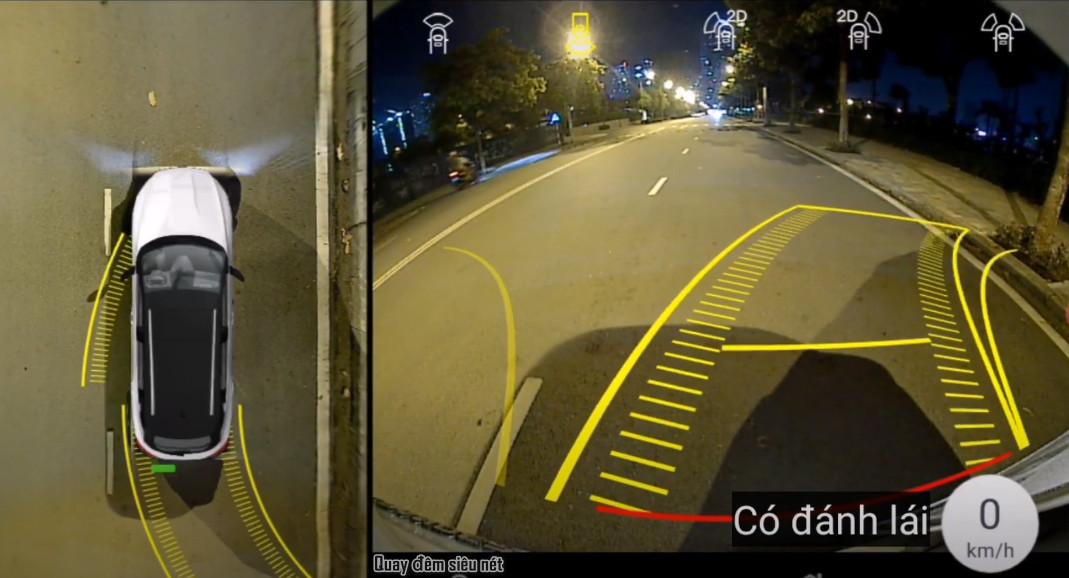 Quay đêm siêu nét và hiển thị đánh lái vô lăng