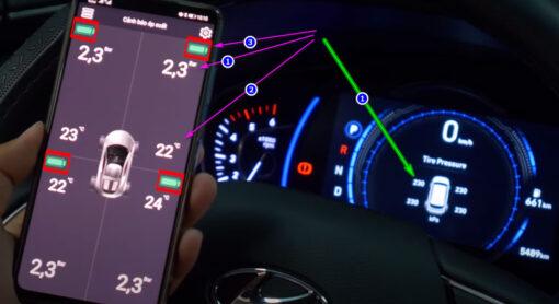 Cảm biến áp suất hiển thị nhiều thông số hơn trên điện thoại