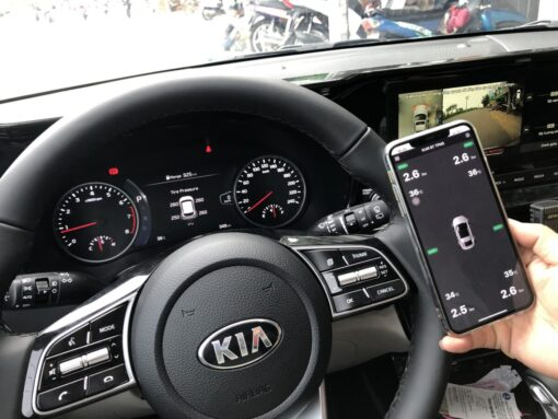 Cảm biến áp suất lốp theo xe, hiển thị màn hình nguyên bản và điện thoại