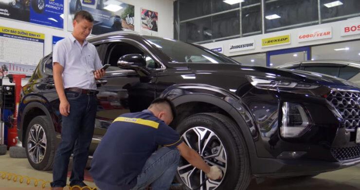 Giám sát bơm hơi cho lốp