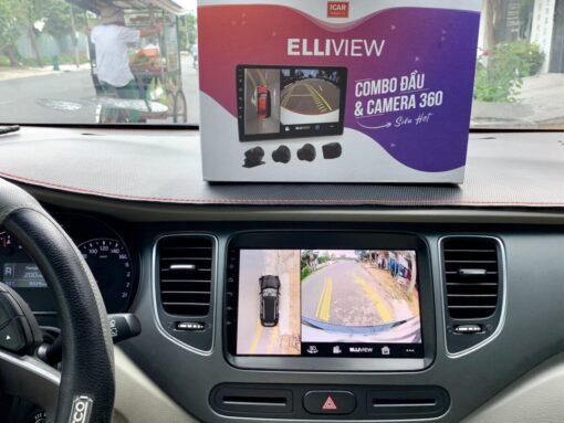 Xe KIA RONDO 2020 lắp camera 360 và màn hình Android Elliview S3 tại Duy Tân Auto