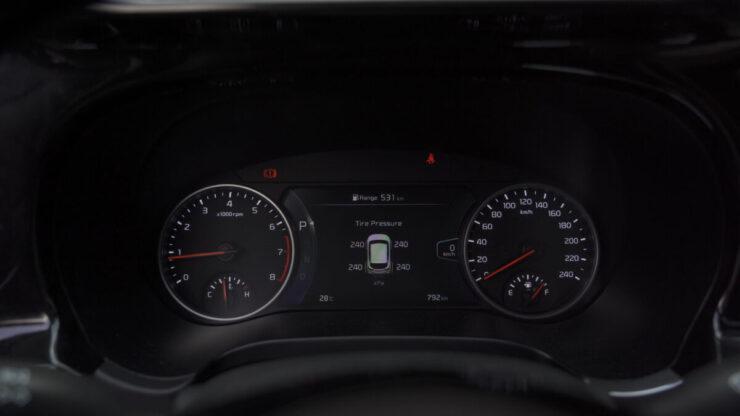 Cảm biến áp suất lốp hiện taplo xe KIA Seltos