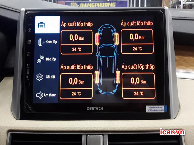 Thiết bị cảm biến áp suất lốp tích hợp màn hình Android