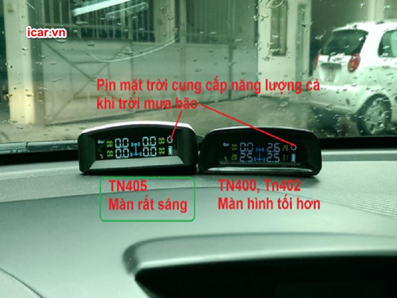 Các thông số hiển thị trên màn hình TPMS TN405
