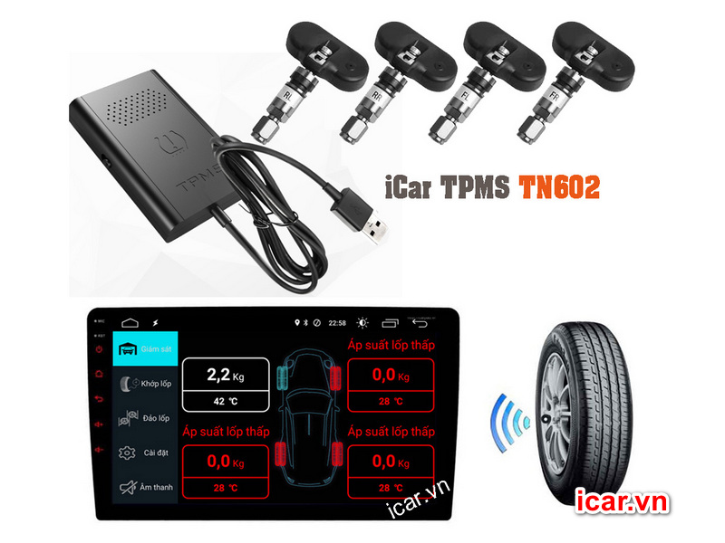 Hệ thống cảm biến áp suất lốp TN602