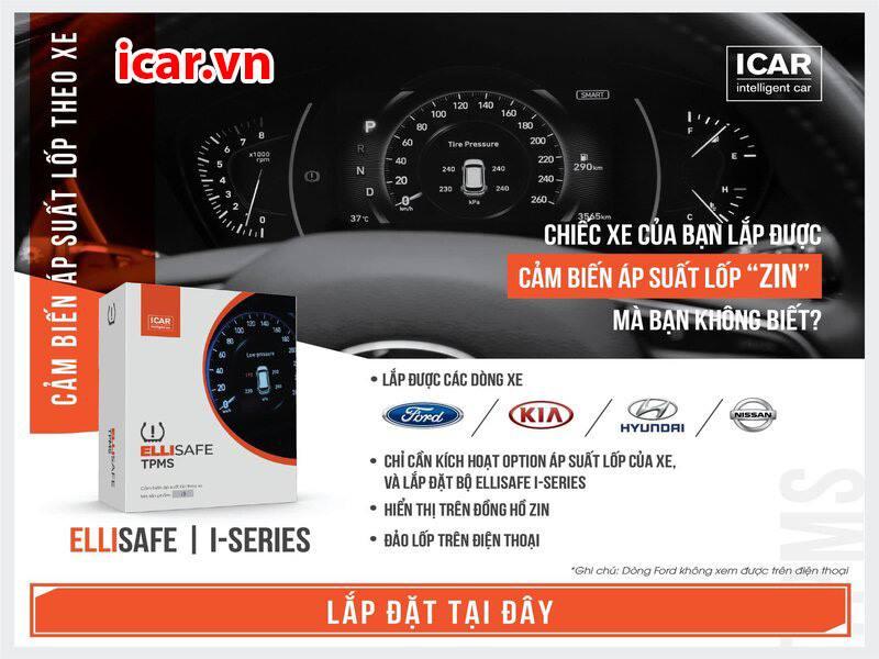 """""""Cảm biến cảnh báo áp suất lốp cho xe ô tô"""
