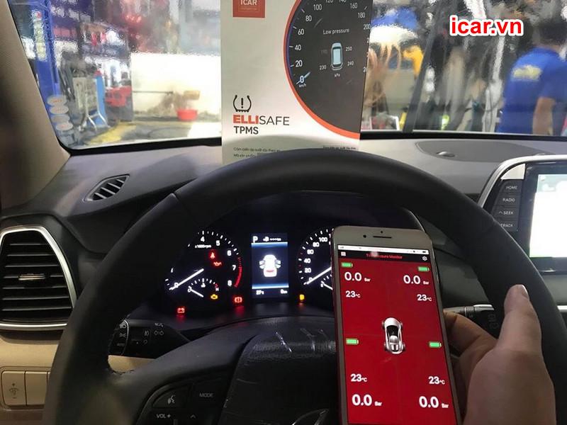 Thiết bị cảm biến áp suất lốp theo xe Ellisafe i3