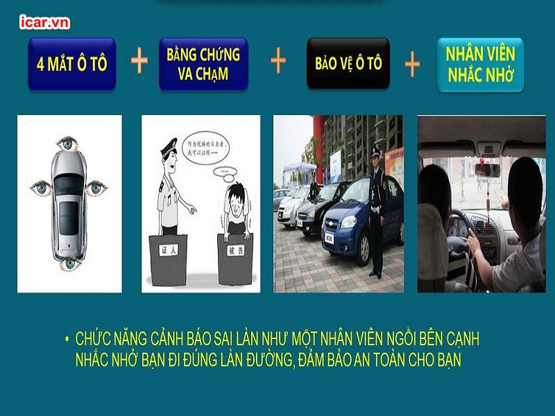Tính năng thông minh của camera 360 ô tô DCT giúp bảo vệ người lái