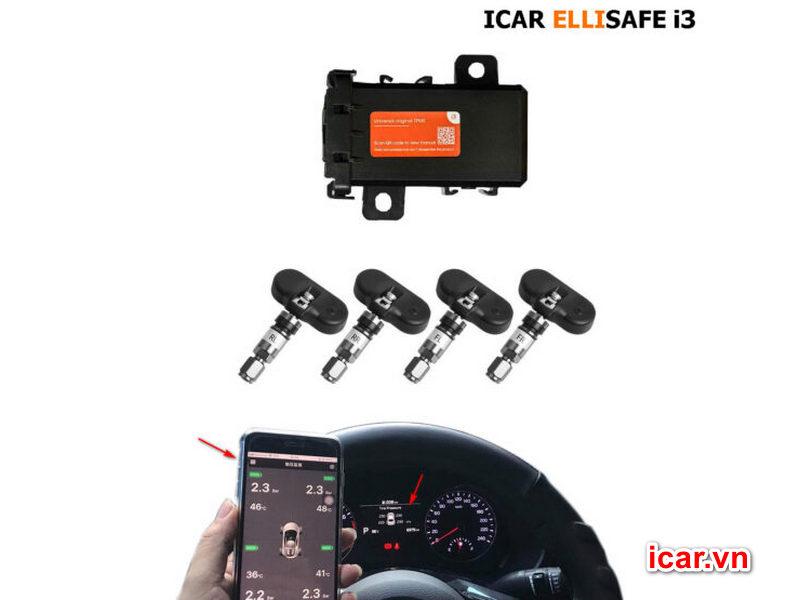 Cảm biến áp suất lốp theo xe Ellisafe i3
