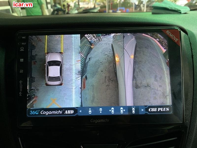 Chế độ đi đường hẹp của camera 360 ô tô