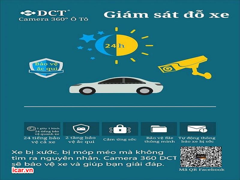 Tính năng giám sát giúp bảo vệ xe 24/24 giờ