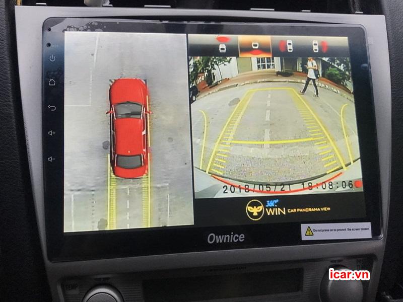 Màn hình hiển thị sắc nét camera 360 ô tô Owin