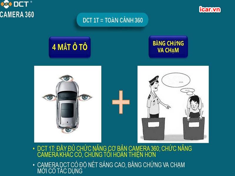 Tính an an toàn của camera 360 ô tô DCT bản T1