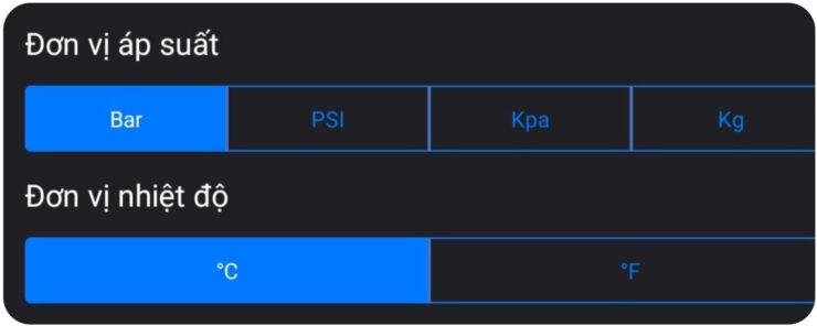 Thay đổi đơn vị áp suất trên cảm biến i3