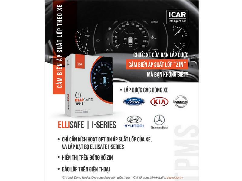 Cảm biến áp suất lốp Ellisafe i3X từ Icar