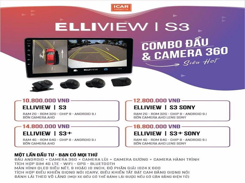 Camera 360 ô tô cho Accent - Elliview V4 phiên bản S