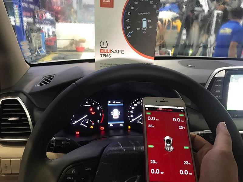 Bộ cảm biến áp suất lốp Zin theo xe Ellisafe i30 từ Icar