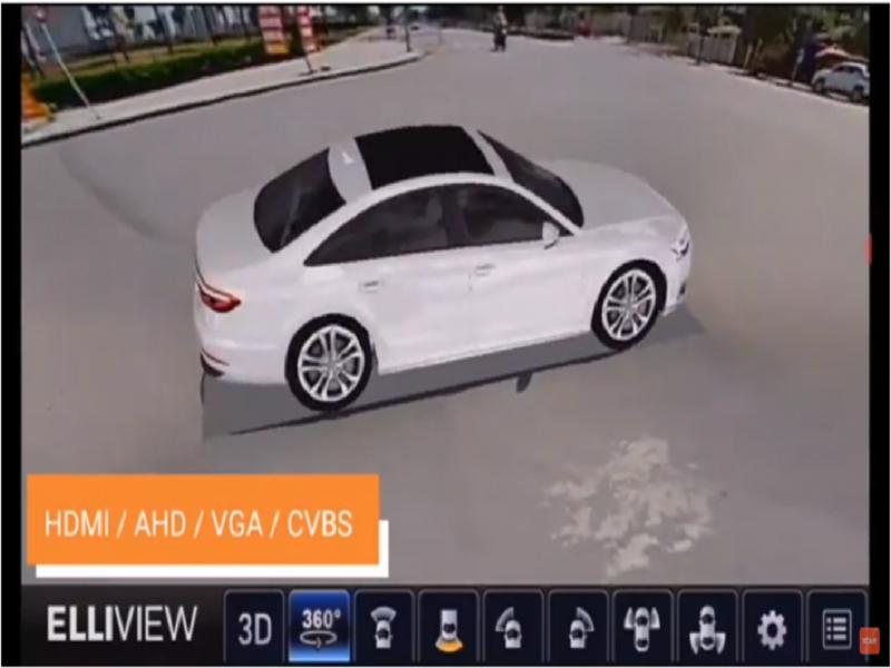 Ellivew tích hợp nhiều đầu cắm như AHD, HDMI, VGA nên thích hợp với hầu hết các dòng xe