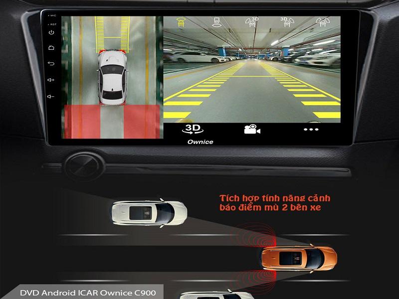 Hình ảnh hiển thị trên màn hình DVD hỗ trợ người lái như một người bạn đồng hành