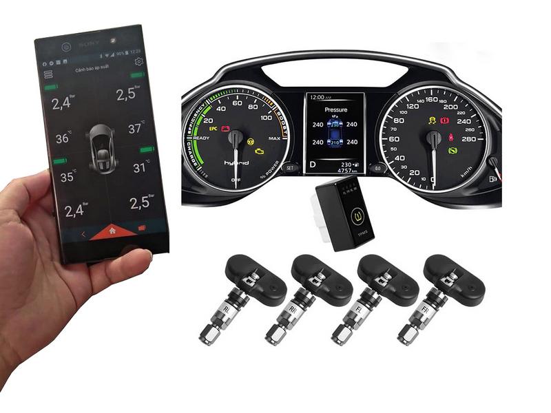 Bộ cảm biến áp suất lốp theo xe Ellisae i3