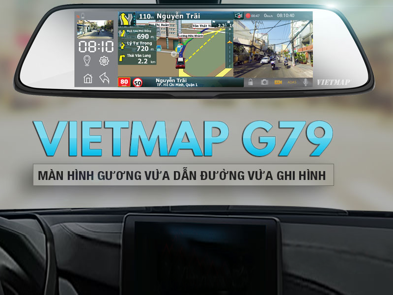 camera hành trình G79 với thiết kế sang trọng