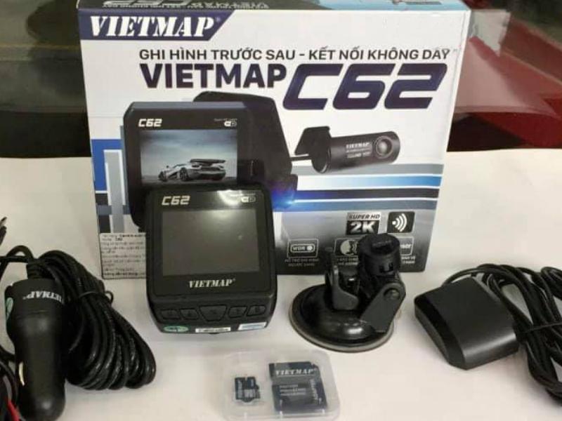 camera hành trình Vietmap C62 tích hợp cảm biến G-Sensor