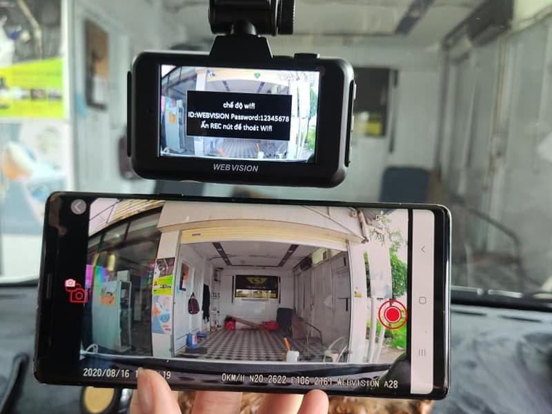 Camera Webvision với tình năng xem trực tiếp trên điền thoại
