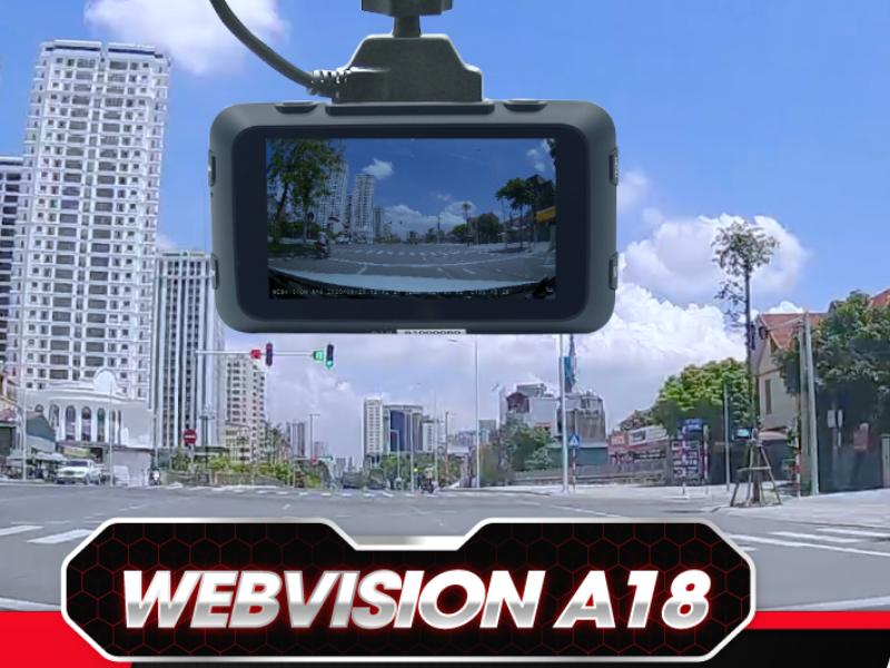 Camera hành trình Webvision A18 nhỏ gọn, tiện ích