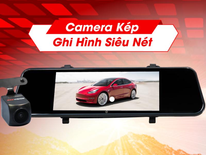 Camera hành trình Webvision với khả năng ghi hình siêu nét