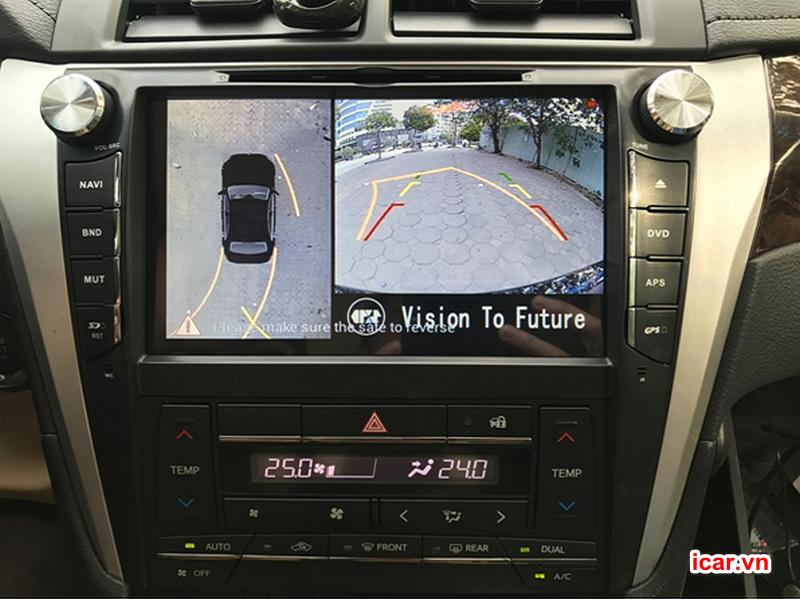 Phân chia hình ảnh hiển thị trên màn hình chính xác giúp người lái dễ dàng quan sát
