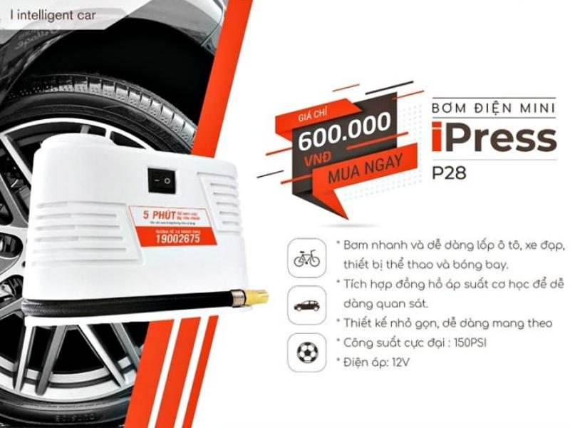 Bơm điện mini IPRESS P28 với nhiều ưu điểm vươt trội