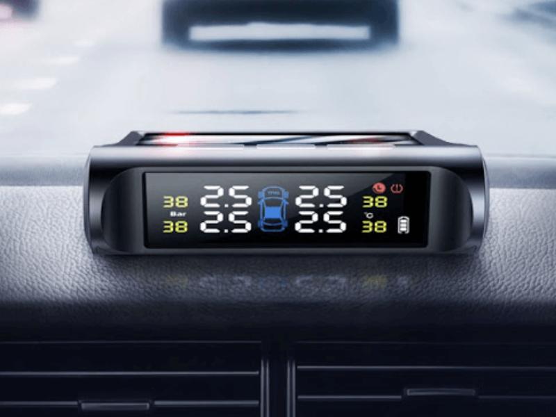 Cảm biến áp suất lốp van ngoài với màn hình thiết kế sắc nét