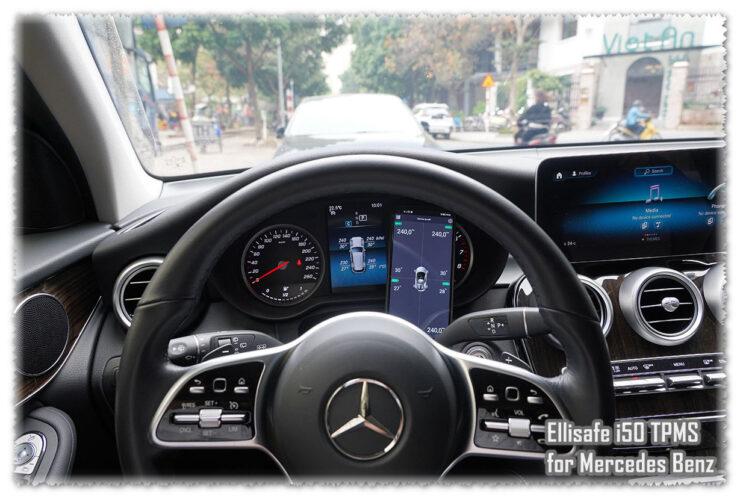 Cảm biến áp suất hiện odometer và điện thoại dành cho xe Mercedes